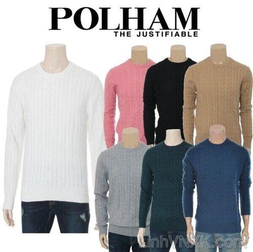 Áo len nam vặn thừng xuất khẩu Polham Hàn quốc