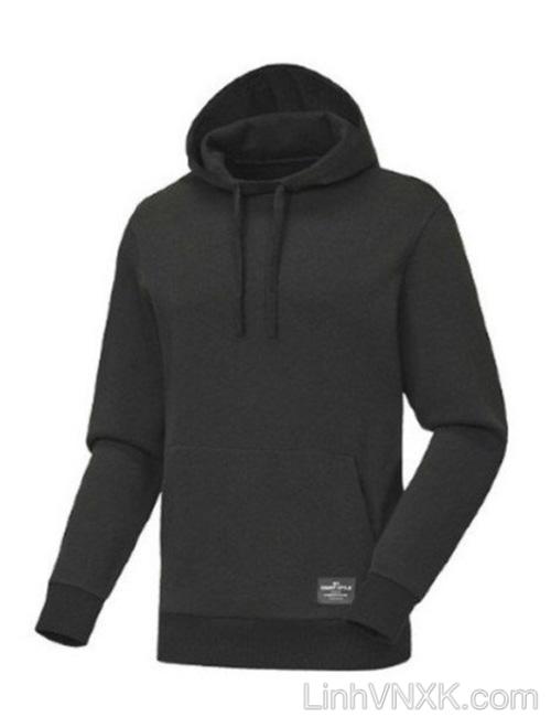 Áo hoodie nam xuất Hàn Kswiss màu đen
