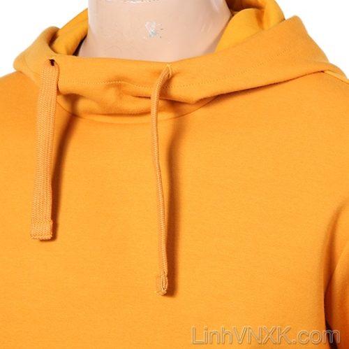 Áo hoodie nam xuất Hàn Kswiss màu vàng