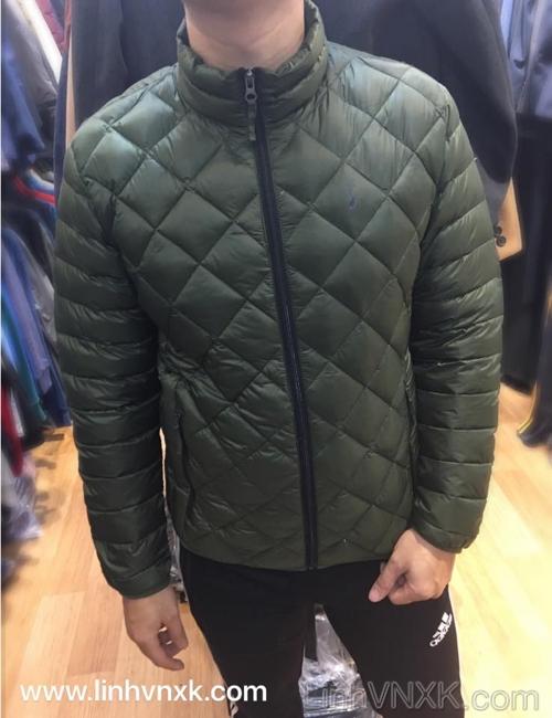 Áo lông vũ siêu nhẹ trần trám xuất khẩu màu rêu