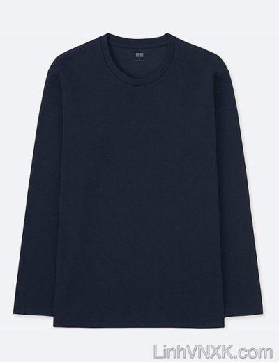 Áo thun nam dài tay xuất khẩu Uni màu xanh navy
