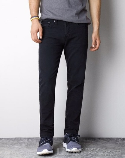 quần jean nam xuất khẩu màu đen american eagle