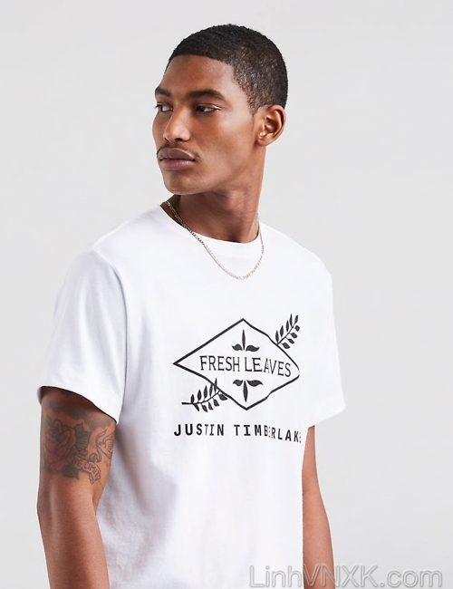 Áo thun nam Levi's x Justin Timberlake màu trắng xuất khẩu