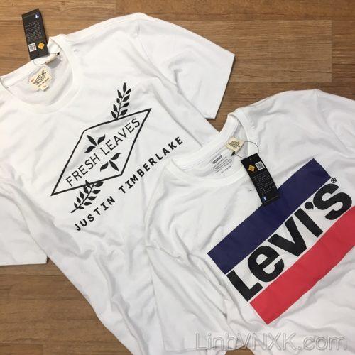 Áo thun nam Levi's màu trắng xuất khẩu