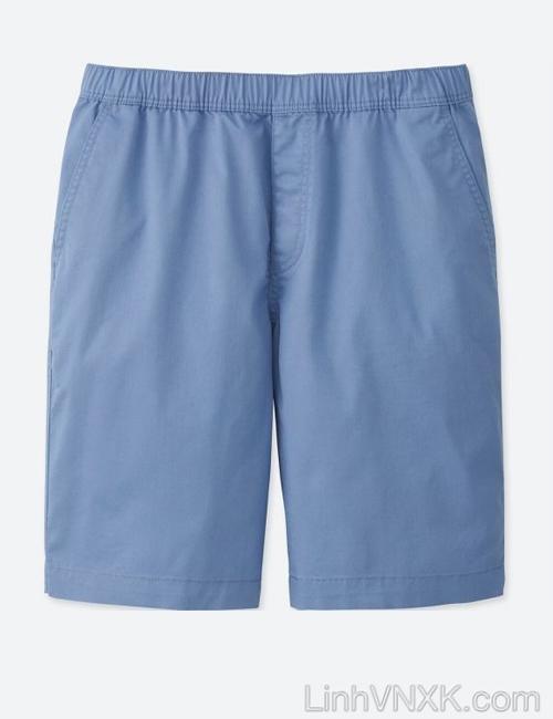 Quần sooc nam cạp chun Uniqlo màu xanh dương