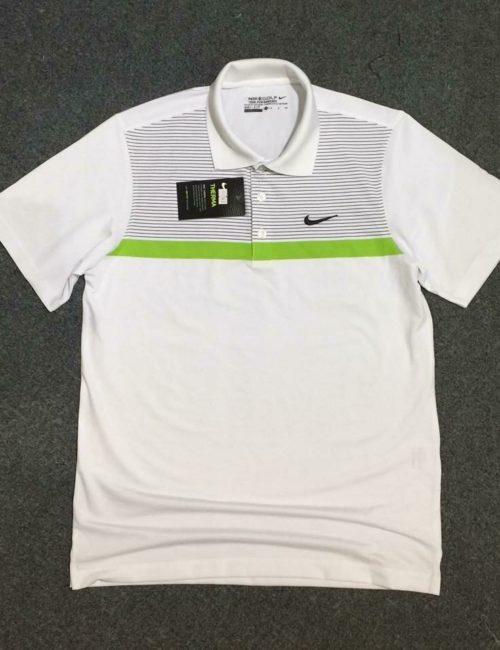 Áo thun polo nam Nike xuất khẩu trắng pha xám
