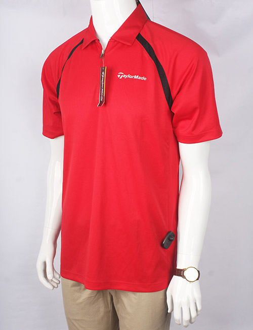 Áo phông nam có cổ thể thao Taylor Made màu đỏ