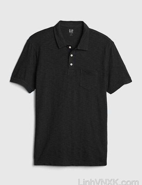 áo thun polo nam Gap xuất khẩu màu đen