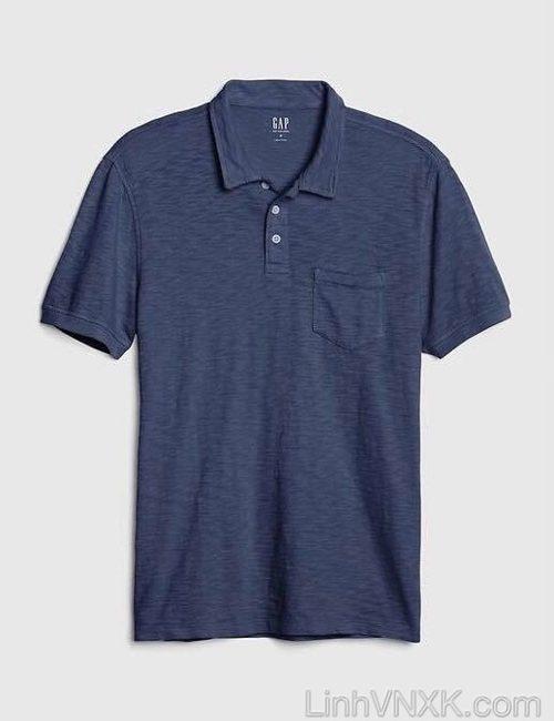 áo thun polo nam Gap xuất khẩu màu xanh navy
