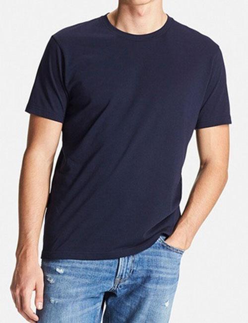 Áo thun nam cổ tròn Uniqlo màu xanh navy