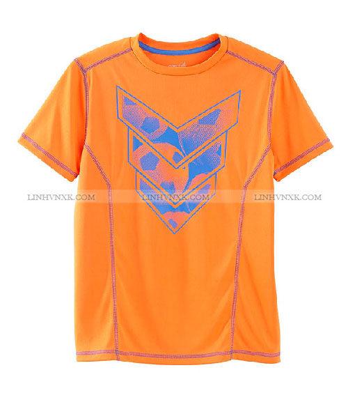 Áo thun nam thể thao cổ tròn xuất Mỹ Exertek màu cam