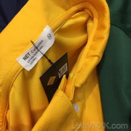 Áo thun polo nam thể thao xuất khẩu Netmen màu vàng
