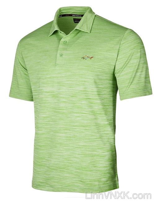 Áo thun polo nam dòng golf Gref Norman xanh lá cây xước