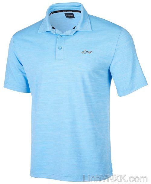 Áo thun polo nam dòng golf Gref Norman xanh da trời xước