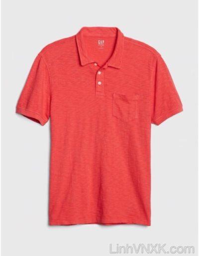 áo thun polo nam Gap xuất khẩu màu đỏ