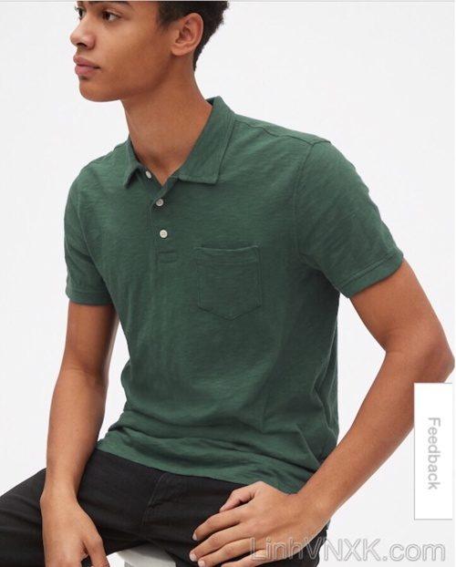 áo thun polo nam Gap xuất khẩu màu xanh rêu