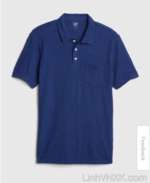 áo thun polo nam Gap xuất khẩu màu xanh blue