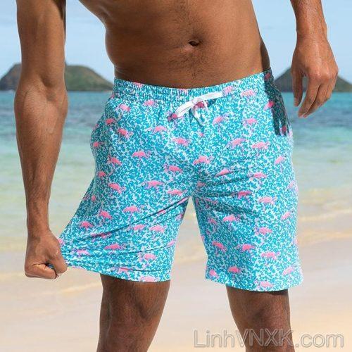 Quần bơi nam xuất khẩu Chubbies xanh nước biển họa tiết