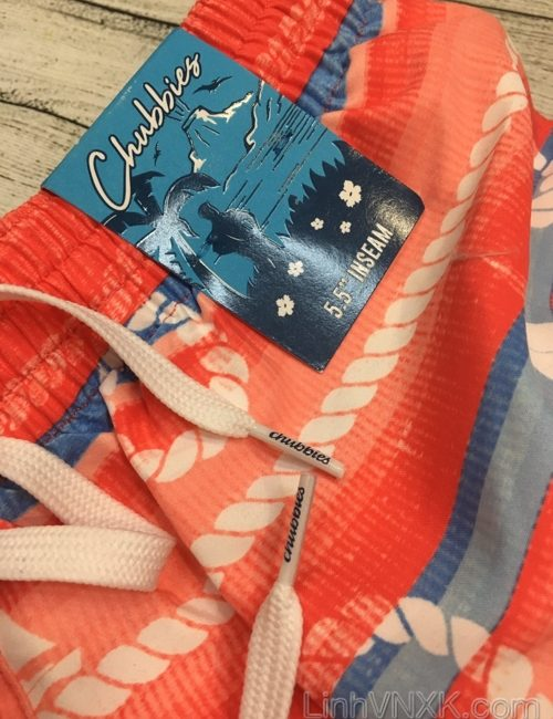 Quần bơi nam xuất khẩu Chubbies màu đỏ họa tiết