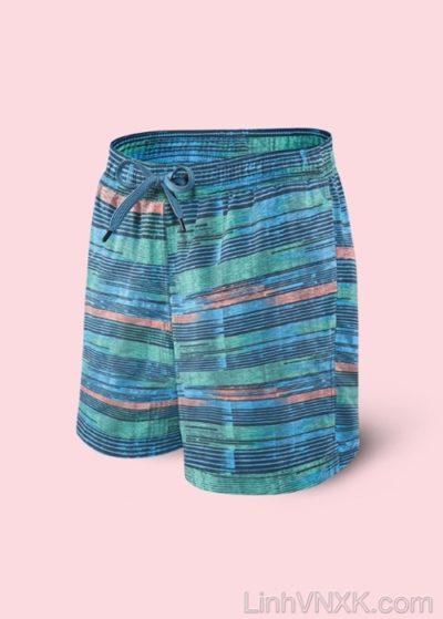 quần đi biển 2in1 xanh kẻ ngang