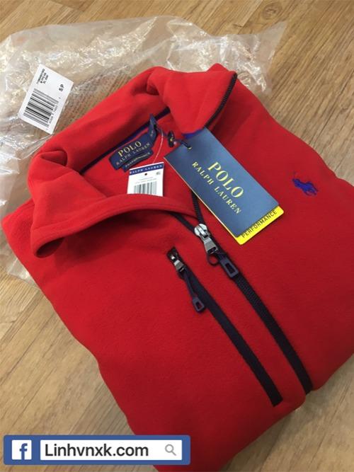 Áo khoác nỉ Polo Ralph Lauren màu đỏ dòng golf