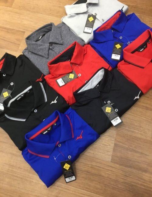 Áo thun polo golf Mizuno
