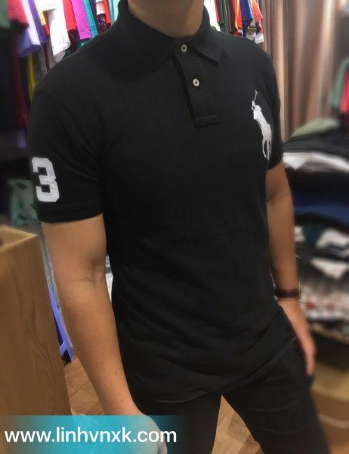 Áo thun polo nam xuất khẩu Polo Ralph Lauren đen