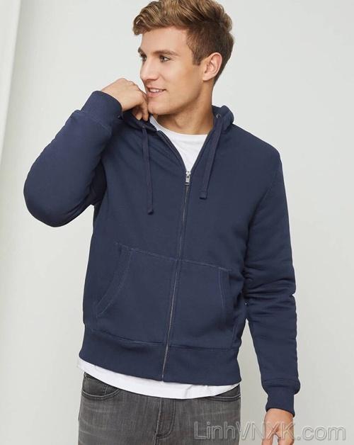 Áo khoác nỉ lót lông GAP hàng hiệu cao cấp màu xanh đen navy