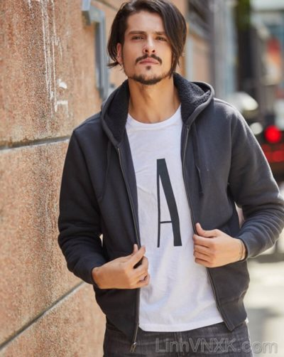 Áo khoác nỉ lót lông GAP hàng hiệu cao cấp màu đen