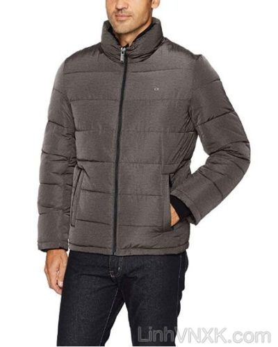 Áo khoác phao nam xuất khẩu CK màu xám