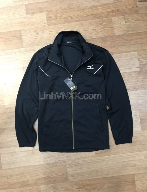Áo khoác thể thao nam xuất khẩu Mizuno màu đen