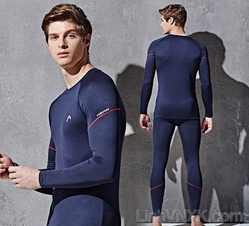 Bộ quần áo giữ nhiệt nam xuất khẩu xịn chính hãng Head