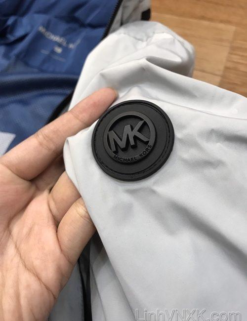 Áo khoác gió giấu mũ 2 lớp Michael Kors màu ghi