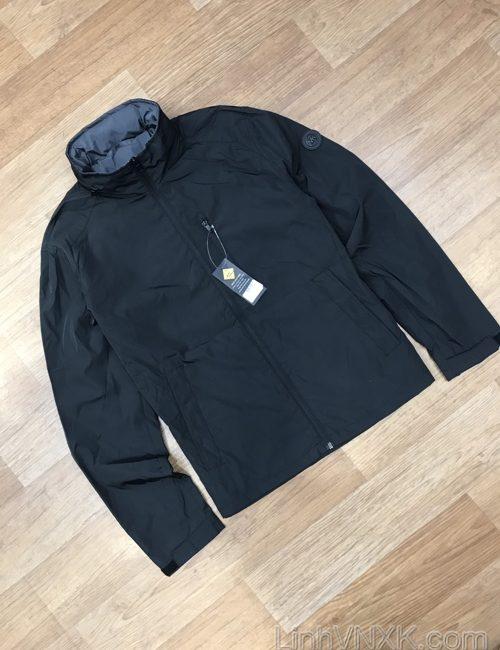 Áo khoác gió giấu mũ 2 lớp Michael Kors màu đen