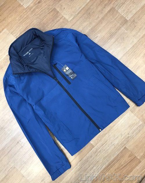 Áo khoác gió giấu mũ 2 lớp Michael Kors xanh blue