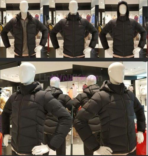 Áo phao lông vũ nam Hàn Quốc Kolon Sport màu đen