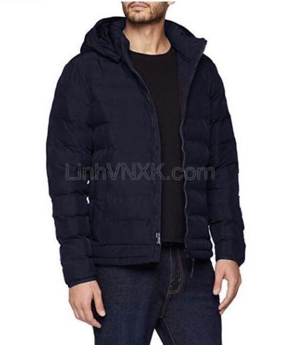 Áo khoác phao bông không đường may Esprit màu xanh navy
