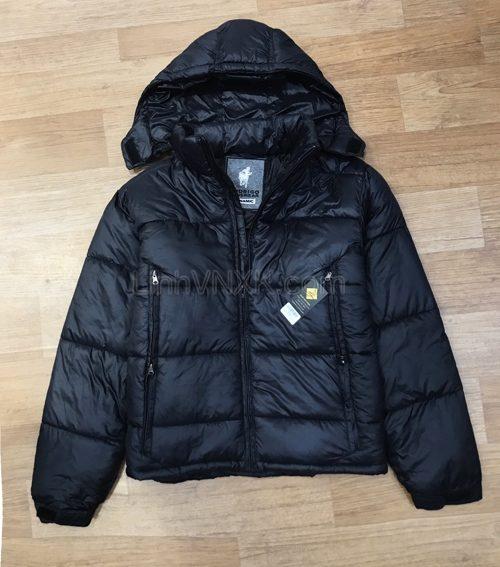 Áo khoác phao nam dáng ngắn Dynamic xuất khẩu màu đen