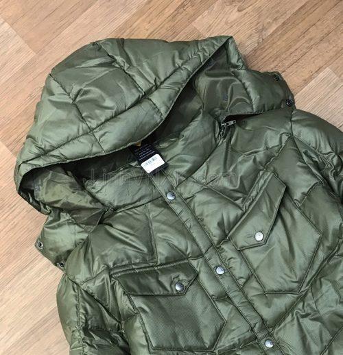 Áo khoác phao nam hàng hiệu Armani màu xanh rêu