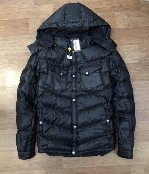 Áo khoác phao nam hàng hiệu Armani màu đen