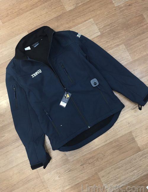 Áo khoác chống thấm solfshell Tesco xanh navy
