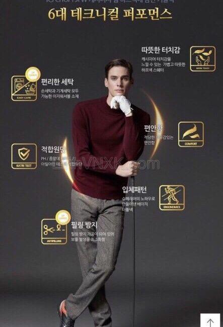 Áo len cổ 3 phân Hàn quốc dòng golf màu đỏ mận