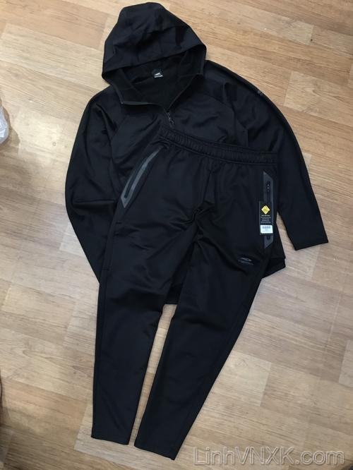 Bộ quần áo nỉ nam cao cấp Tigora màu đen