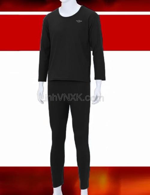 Bộ đồ giữ nhiệt xuất Hàn màu đen