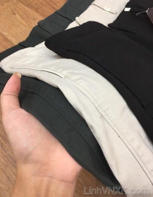 Quần kaki Uni xuất Nhật dáng tapered fit