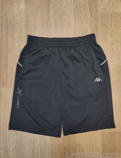 Quần short thể thao nam xuất khẩu Kappa màu đen
