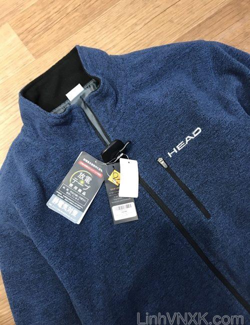 Áo khoác golf giữ nhiệt Head xuất Nhật màu xanh navy