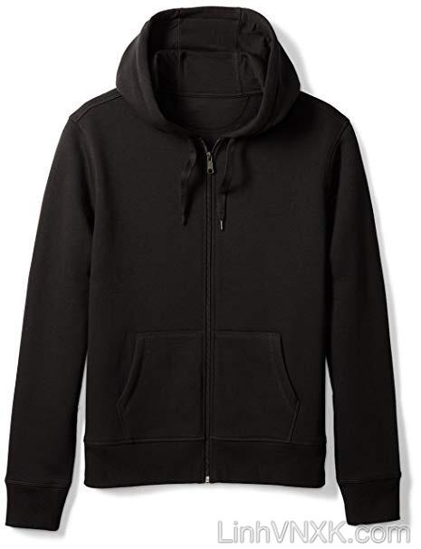 Áo khoác nỉ mỏng Amazon màu đen