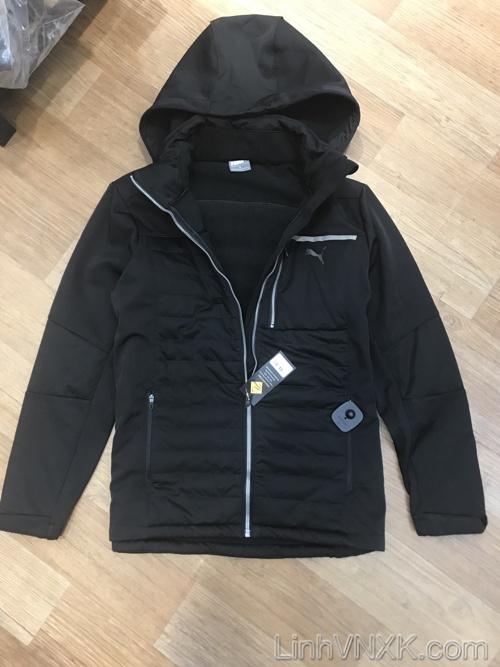 Áo khoác nỉ thể thao puma màu đen