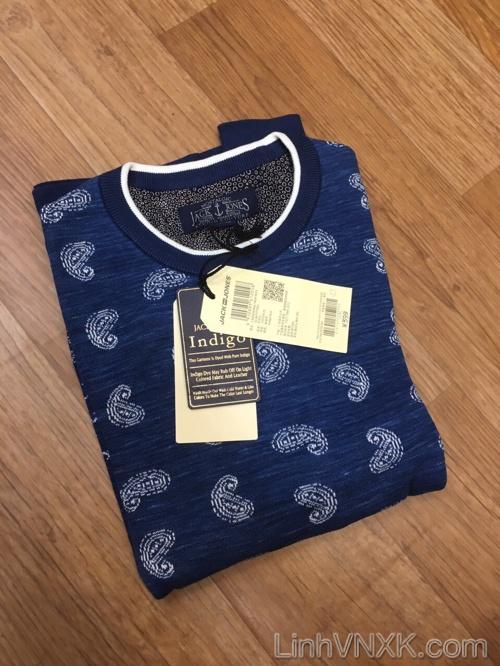 Áo len nam họa tiết Jack&Jones xanh navy